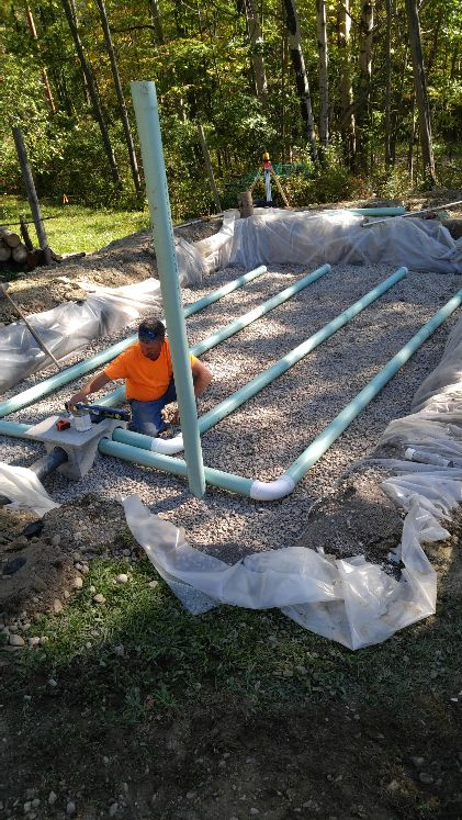 Septic System Design, sand filter